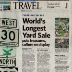 article about the word's longest yard sale