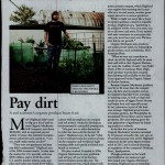 article about a soil scientist's organic product