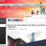 article about where to go in Nashville for music