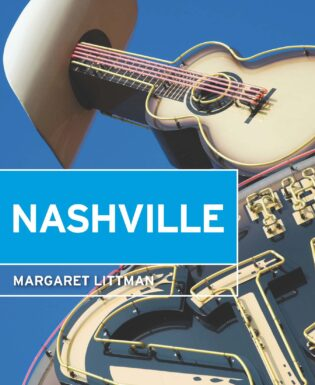 Moon Nashville Book Cover with neon guitar sign