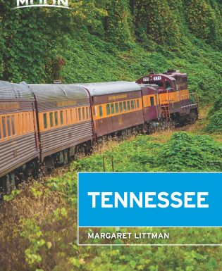 Train through the Tennessee countryside on book cover