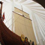 replica of a viking ship in North Dakota