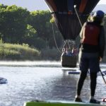 stand up paddle boarding on the Rio Grande